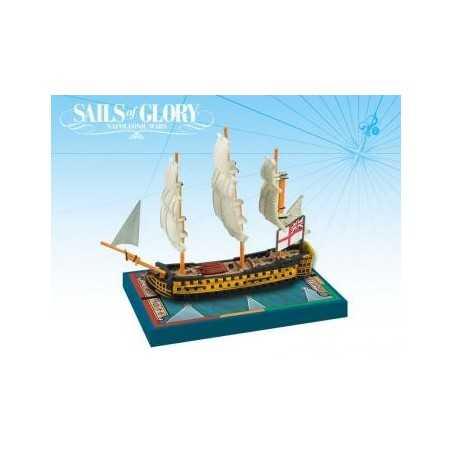 HMS Queen Charlotte 1790 British SotL Sails of Glory