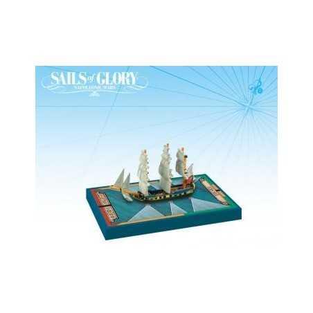 HMS Swan 1767 British Ship Sloop Ship Sails of Glory