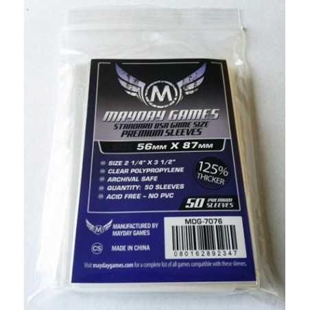 56 X 87 MM Premium Mayday USA (purple) Card Sleeves
