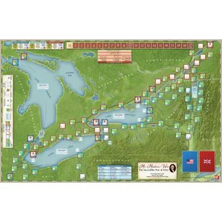 Mr Madison War Mounted Map
