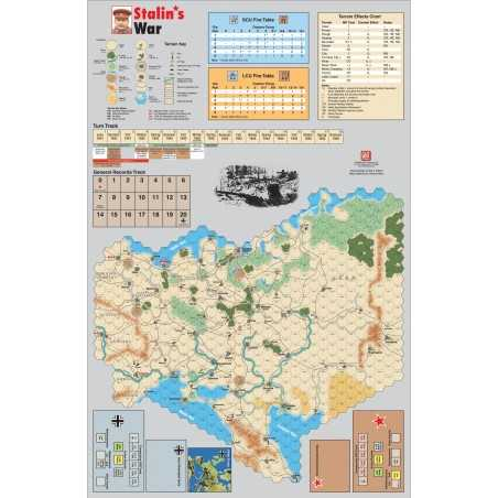 Stalin's War Mounted Map