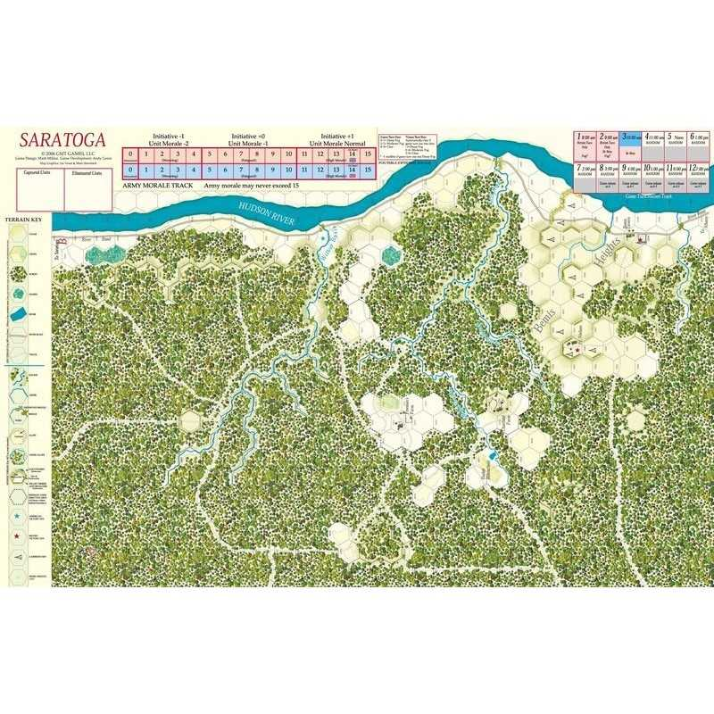 Saratoga Mounted Map