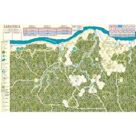 Saratoga Mounted Map