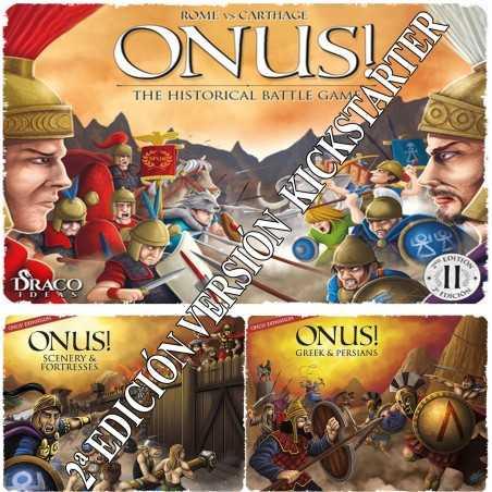 Onus 2ª edición más Expansiones Griegos y Persas y Escenarios y Fortalezas