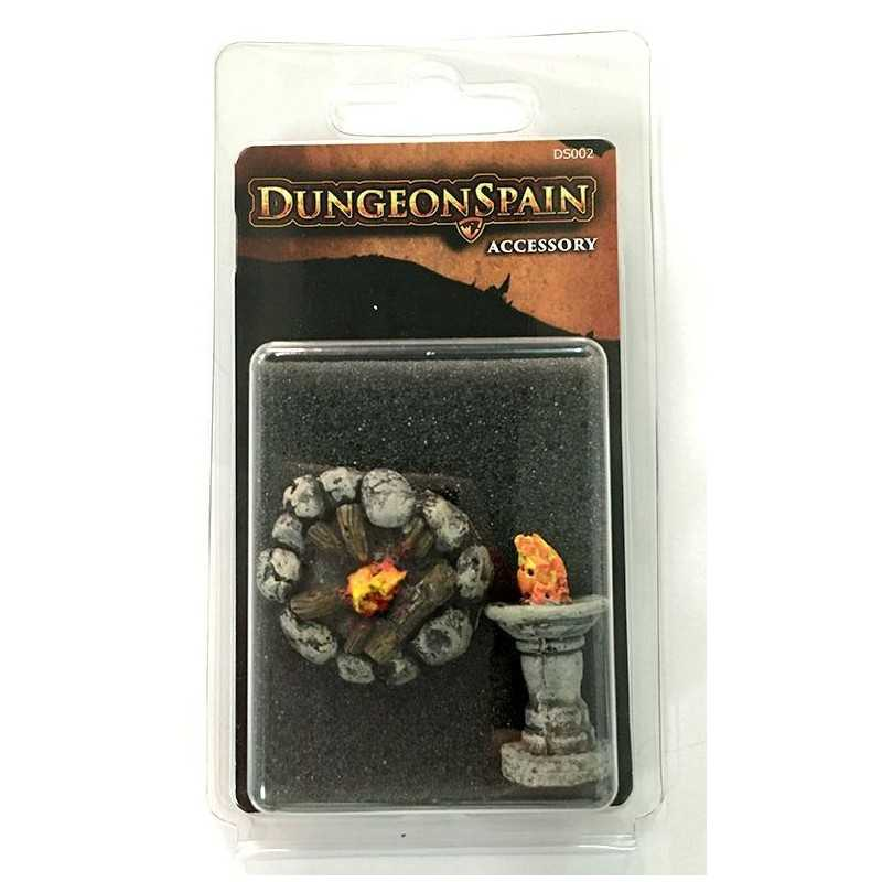 Dungeon Spain Pack de accesorios 7: Hoguera y pebetero
