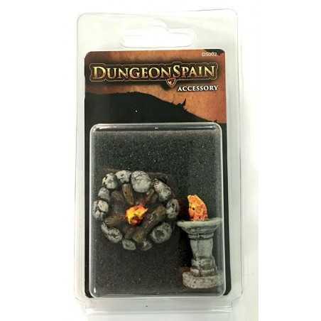Dungeon Spain Pack de accesorios 7: Hoguera y pebetero