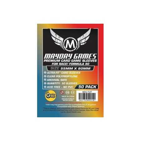 55 X 80 MM Premium MAYDAY sleeves Premium Race! Formula 90
