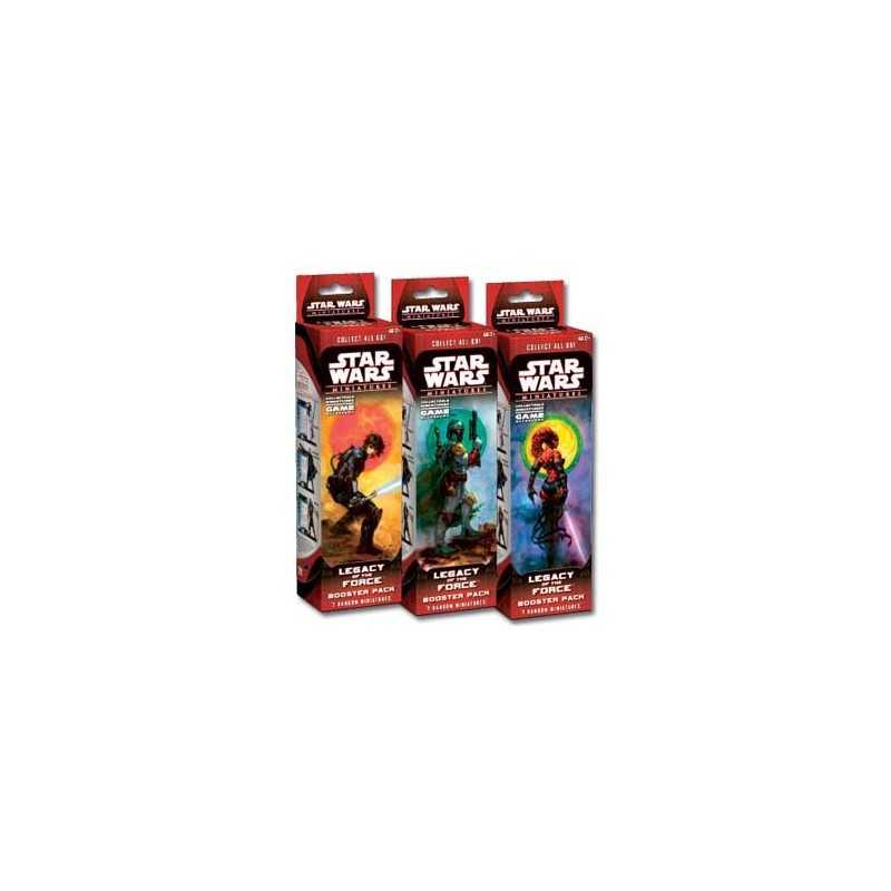 Star Wars miniaturas Legacy of the Force booster