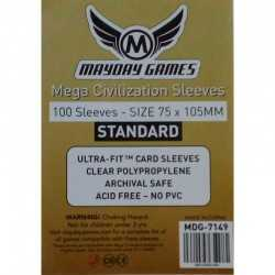 75 x 105 MM Standard Mega Civilization Sleeves