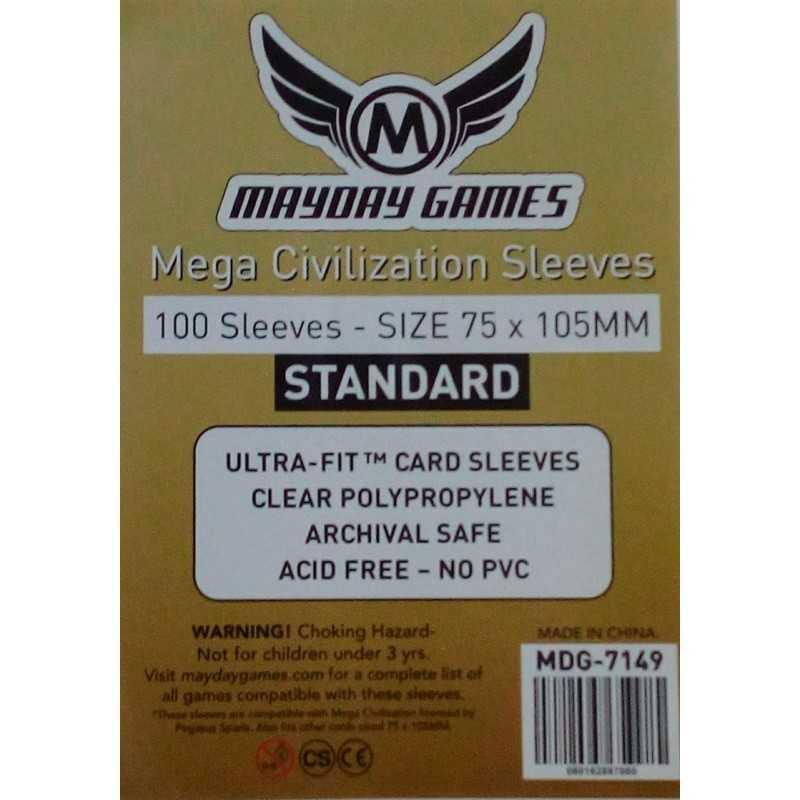 75 x 105 MM Standard Mega Civilization Sleeves