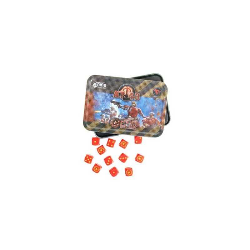 AT-43 Red Blok Dice Tin