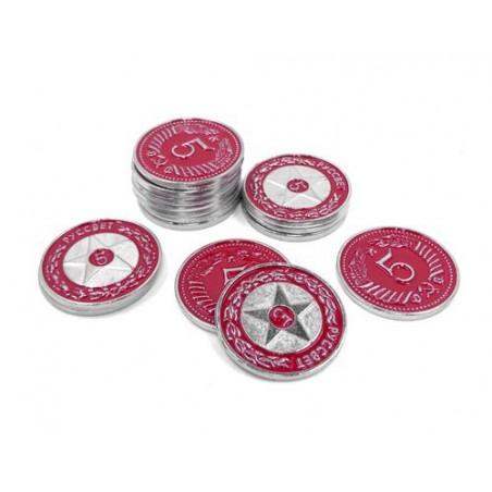 Scythe: monedas $5 rojas
