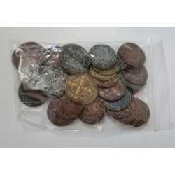 Skull Tales Set monedas plástico