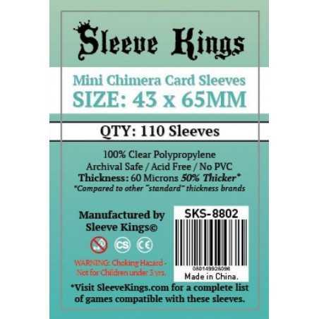 43 x 65 mm Fundas CHIMERA MINI Sleeve Kings 110 unidades