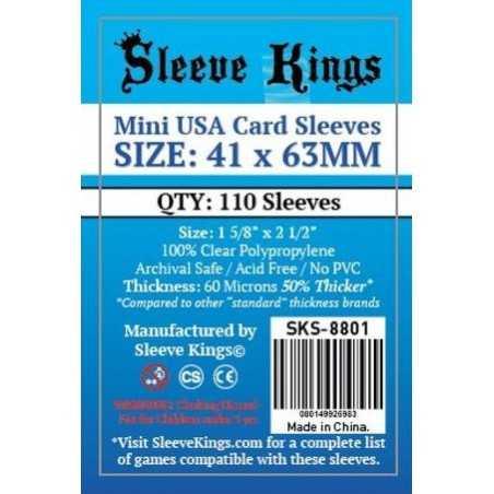 41 x 63 mm MINI USA Sleeve Kings 110 units