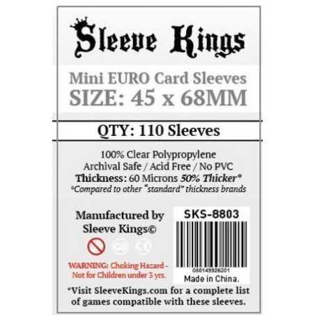 45 x 68 mm MINI EURO Sleeve Kings 110 units
