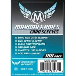 59 X 92 mm Mayday Euro Game Card Sleeves 100 units blue