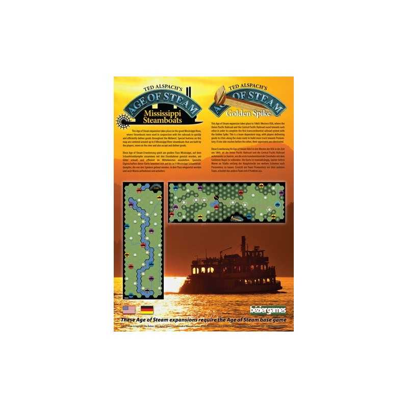 Mississippi Steamboats / Golden Spike Exp Railes /Steam / AOS