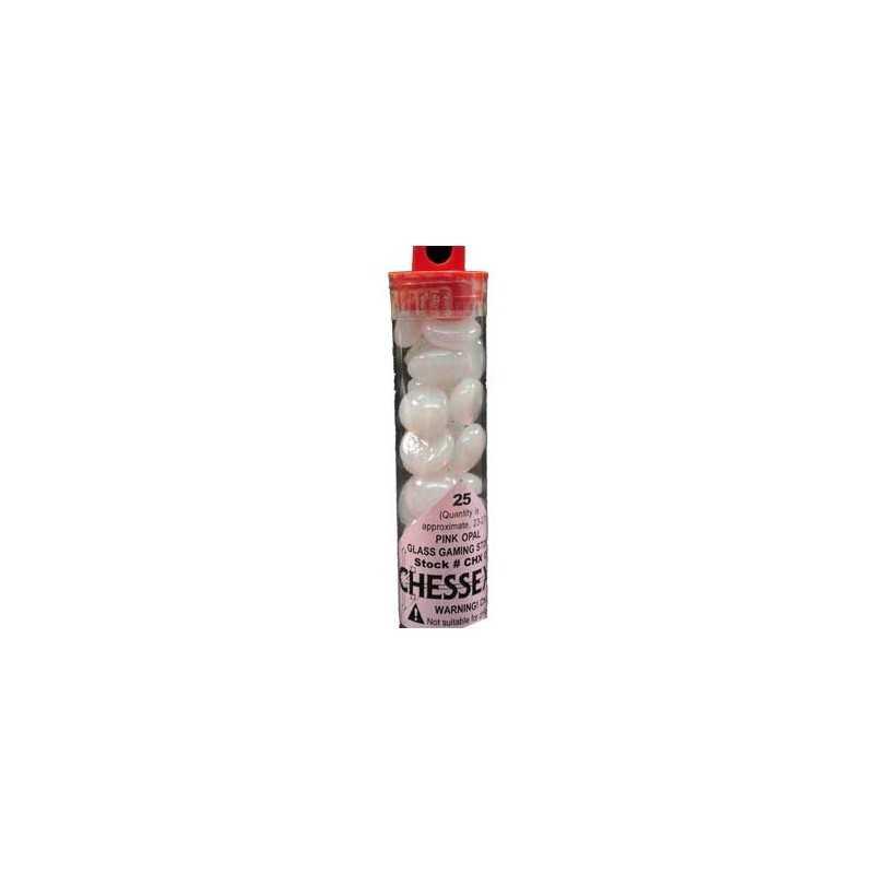 Contadores en tubo, rosa opalo cristal