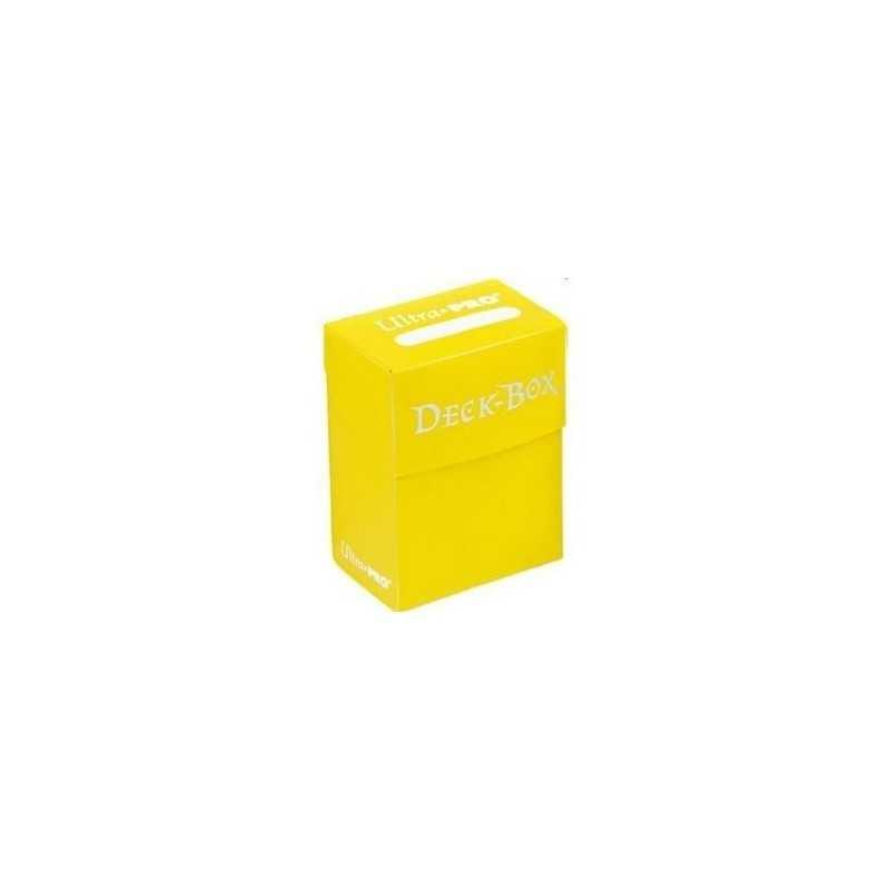 Solid Deck Box Amarilla (caja para cartas enfundadas)