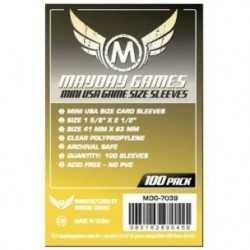 41 X 63 mm Fundas Mayday Mini americano 100 unidades (amarillo)