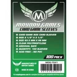 63.5 X 88 mm Mayday standard sleeves 100 units (Green)