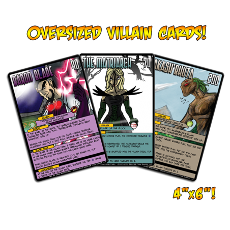 Villain Oversized Cards Sentinels of the Multiverse