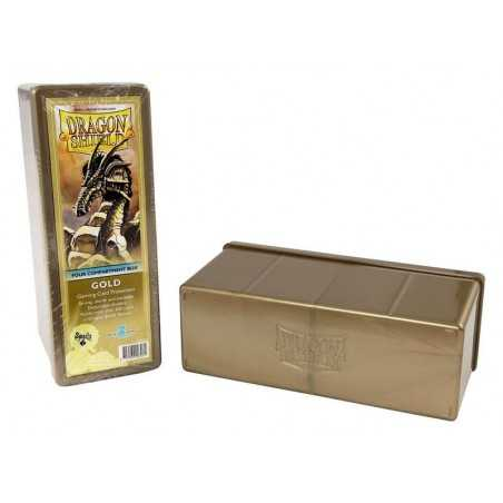 Storage Box 4 compartments Gold