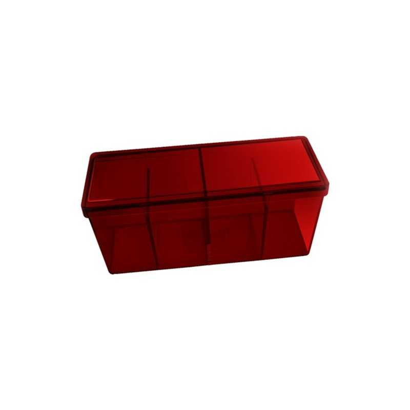 Storage Box 4 compartments Red