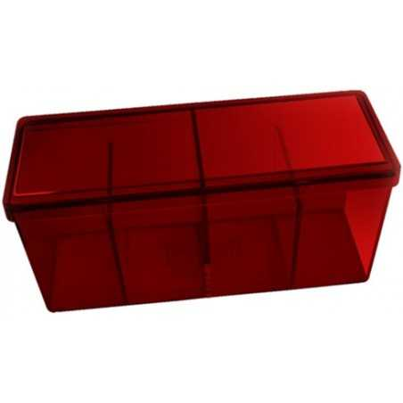 Storage Box 4 compartimentos Rojo