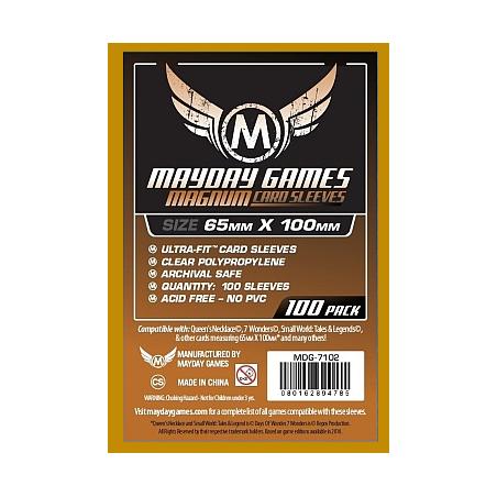 65 x 100 mm Fundas Mayday con trasera marrón 7 Wonders