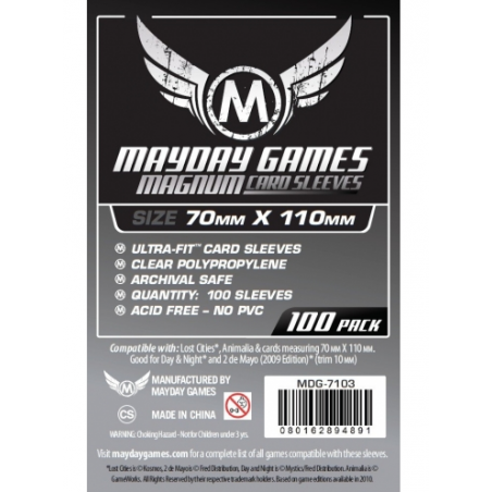 70 x 110 mm Mayday Ultra-Fit Card Sleeves 100 units