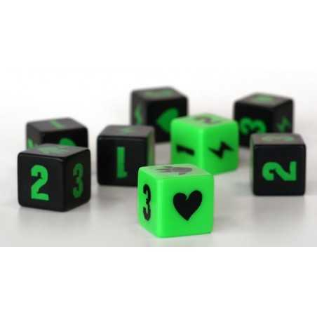 King of Tokyo engraved dice